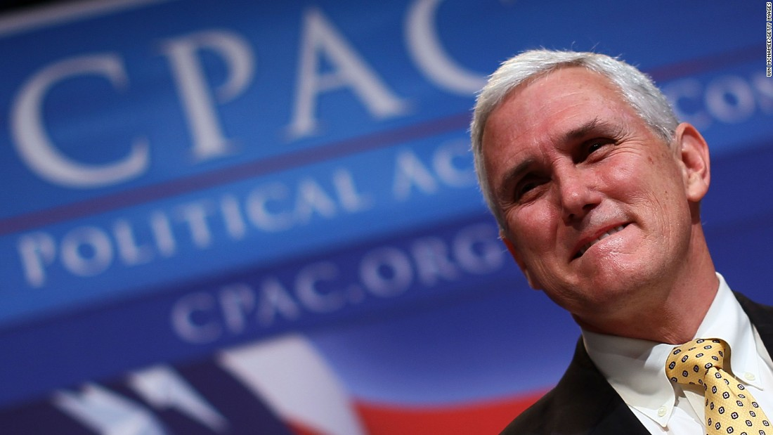 Pence delivers remarks at the Conservative Political Action Conference annual meeting on February 19, 2010, in Washington.
