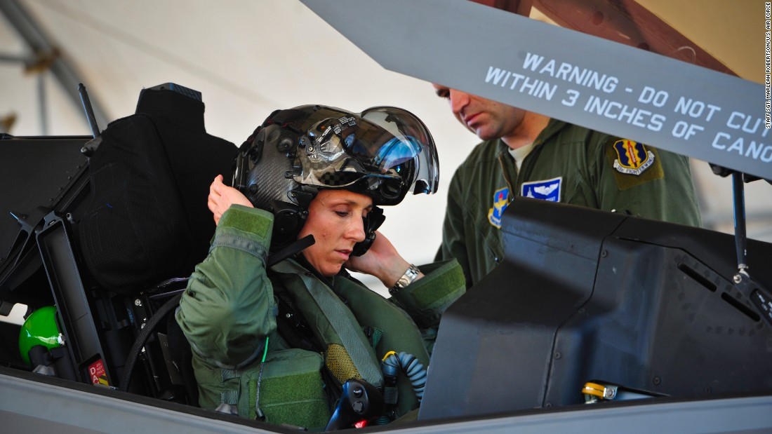 Air Force's newest fighter gets first female pilot
