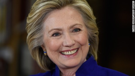 Democratic presidential candidate and former U.S. Secretary of State Hillary Clinton smiles as she speaks at Rancho High School on May 5, 2015 in Las Vegas, Nevada.