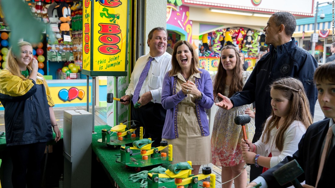 Highlighting the opening of the Point Pleasant Beach boardwalk on May 28, 2013, with New Jersey Gov. Chris Christie and his family after Superstorm Sandy's devastation the previous September.