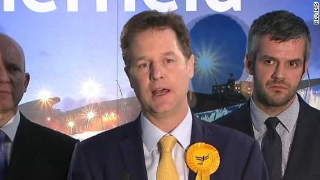 Nick Clegg: 'Cruel night for Liberal Democrats'