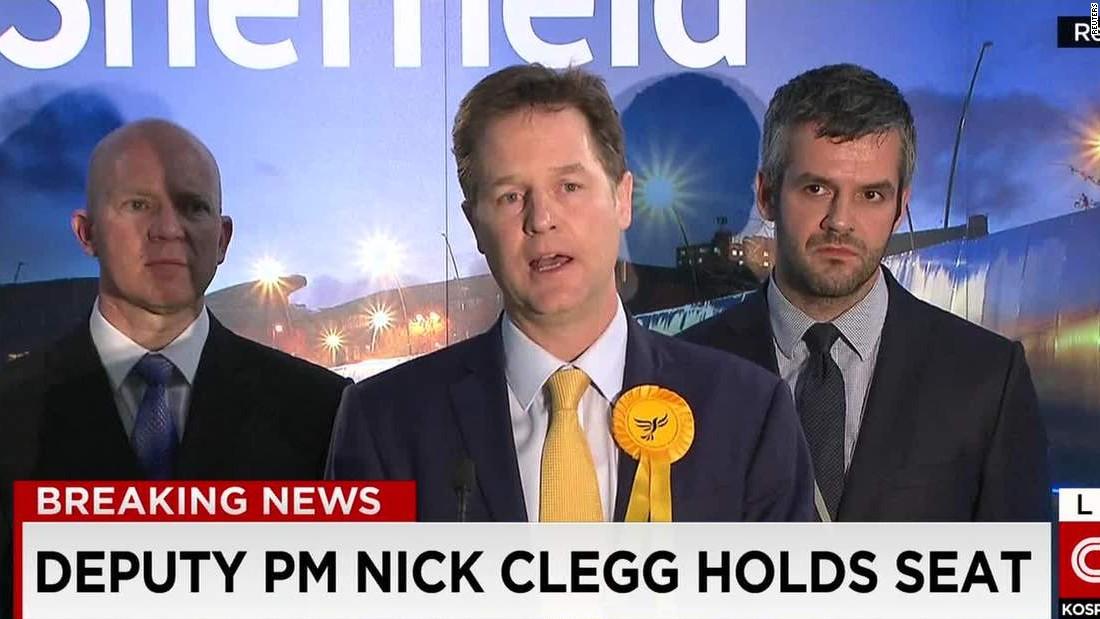 Nick Clegg: 'Cruel night for Liberal Democrats'