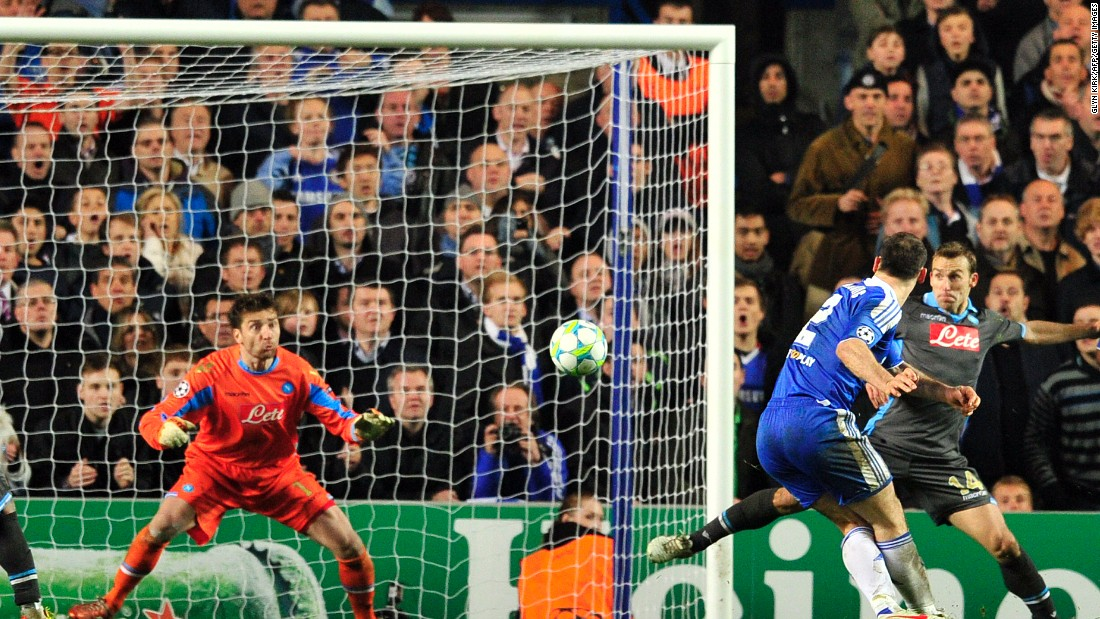 In 2012, Chelsea needed to overturn a 3-1 first-leg deficit from its last-16 tie with Napoli. The Blues were in crisis, with head coach Andre Villas-Boas having been sacked and caretaker boss Roberto Di Matteo put in charge of first-team affairs. Whatever its problems, Chelsea made light work of its task at Stamford Bridge, moving into a two-goal lead before Napoli pulled one back. Frank Lampard's penalty took the game to extra-time before Branislav Ivanovic rifled home a dramatic winner. Chelsea went on to defeat Bayern Munich on penalties in the final.