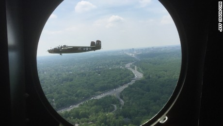Come aboard one of the B-25 bombers that flew over Washington