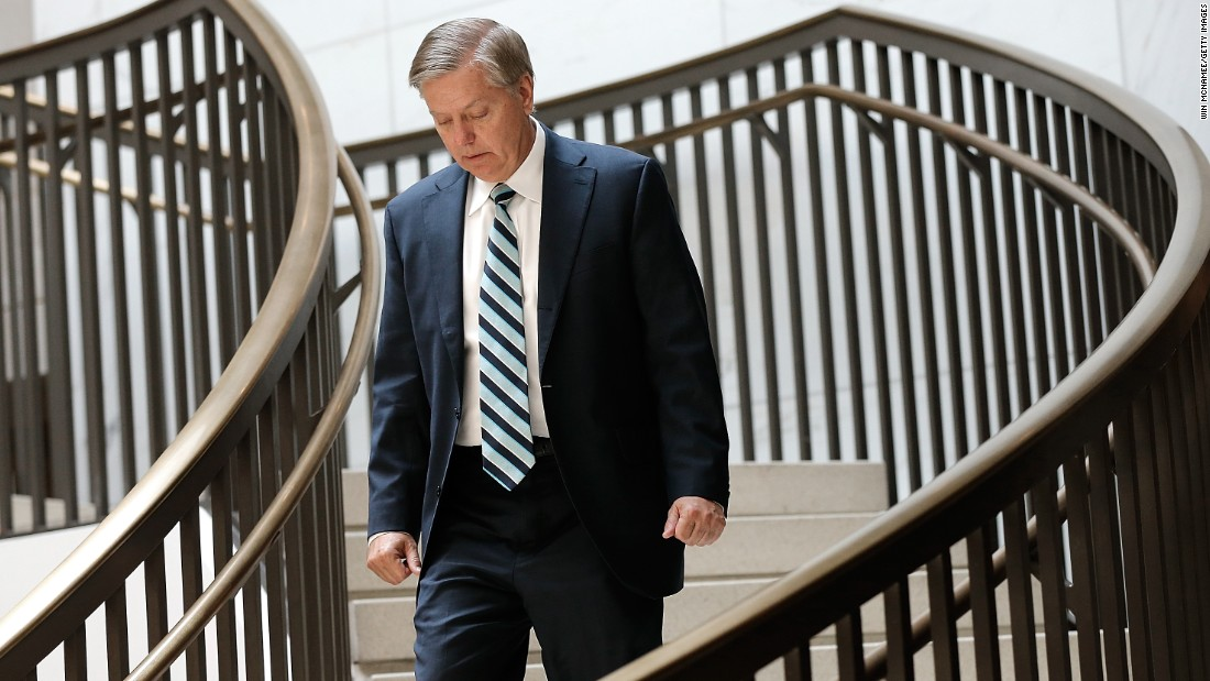 Graham arrives for a closed briefing of the Armed Services Committee on July 30, 2014. Before serving in the Senate, Graham was elected to the U.S. House of Representatives in 1994.