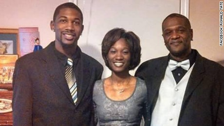 Liquori Tate, left,  was one of two police officers killed Saturday night in Hattiesburg, Mississippi.