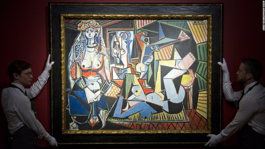 "Picasso's ""<a href=""http://money.cnn.com/2015/05/10/luxury/picasso-auction-new-record/index.html"" target=""_blank"">Les femmes d'Alger (Version 'O')</a>"" went under the hammer Monday, May 11, at Christie's in New York. The Picasso sold for a record $179,365,000."