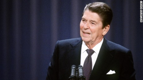 President  Ronald Reagan addresses the Republican National Convention in 1984.