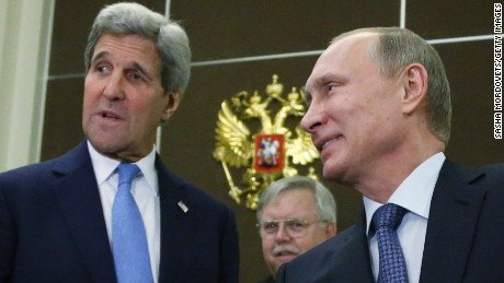 John Kerry discusses Iran, Syria with Vladimir Putin