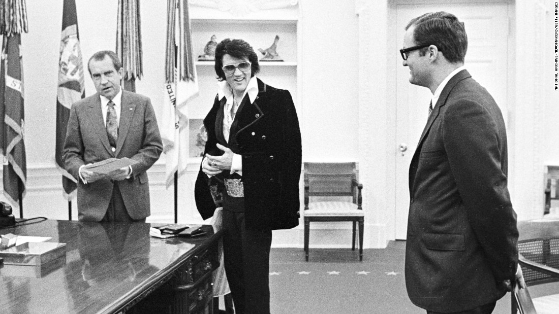 "Pop culture and politics collided on December 21, 1970, when the King of Rock 'n' Roll, Elvis Presley, visited President Richard Nixon in the White House Oval Office. The '70s may have been many things, but boring sure wasn't one of them. Check out 70 of the most unforgettable moments of the decade. For more, watch the CNN Original Series ""<a href=""/shows/the-seventies"" target=""_blank"">The Seventies</a>."""