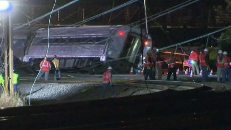 'Violent scene' near Amtrak train crash site