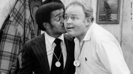 "Carroll O'Connor as Archie Bunker and Sammy Davis Jr. as himself in an episode entitled ""Sammy's Visit..""  on January 25, 1972. Episode was broadcast on CBS on February 19, 1972."