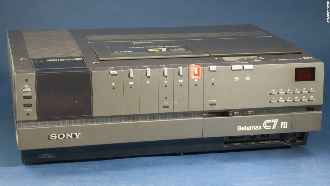 In November 1975, Sony introduced the Betamax, the first mass-market VCR. For the first time, with the touch of a button, viewers could save, rewatch and duplicate television broadcasts. The Betamax was quickly overtaken in popularity by JVC's VHS, a format that offered lower-picture quality but longer recording times. By the late 1980s, Betamax had all but disappeared in the United States, though Sony continued production in Japan until 2002.