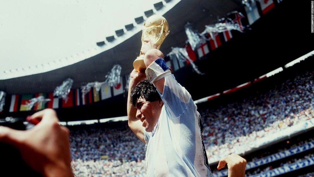 One of the world's greatest ever players, Diego Maradona led Argentina to victory in the 1986 World Cup final against West Germany in Mexico.