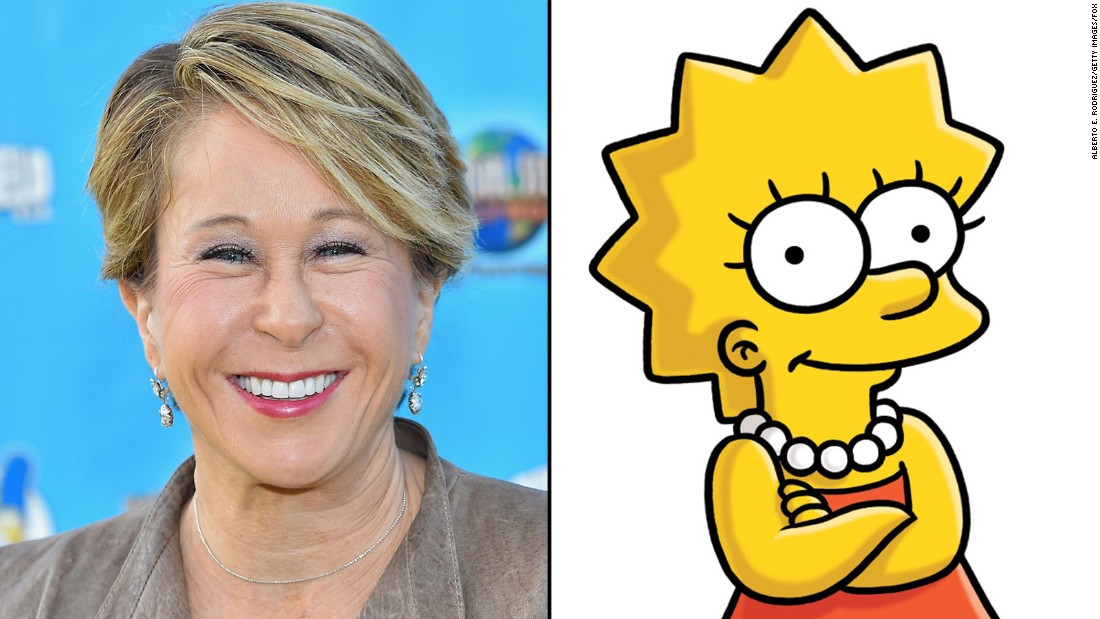 Yeardley Smith supplies the voice of Lisa Simpson.