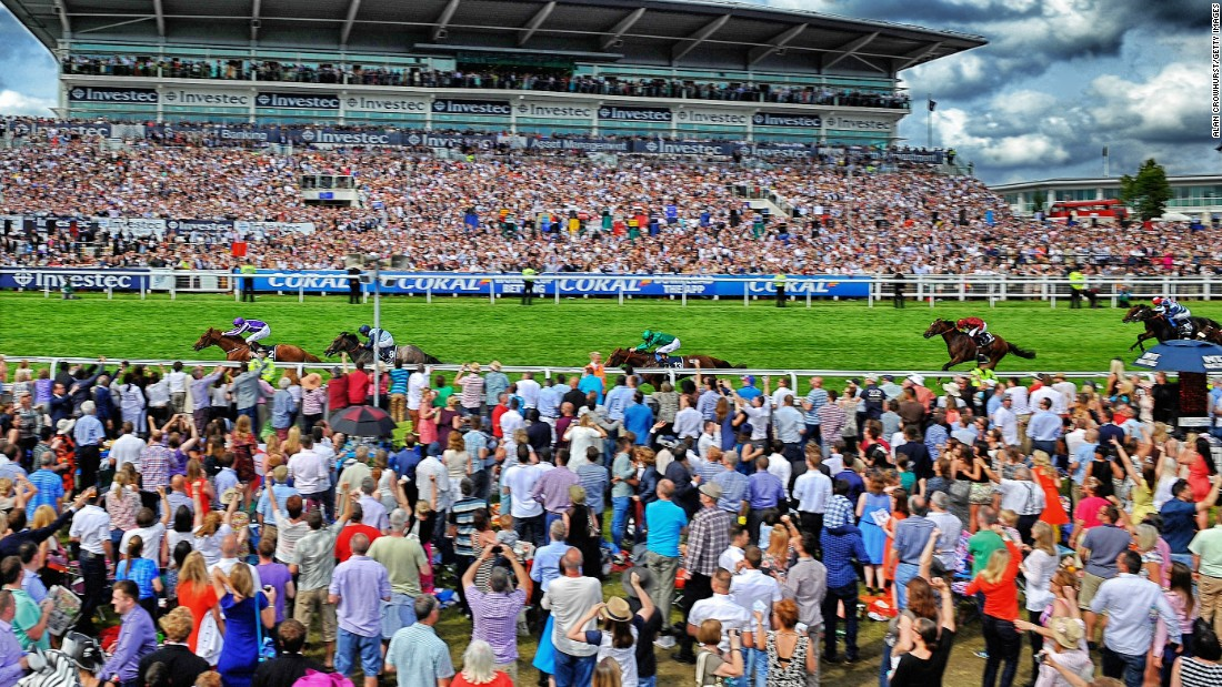 The crowd watches on as Joseph O'Brien rides Australia to victory last year, a horse trained by his father Aidan.
