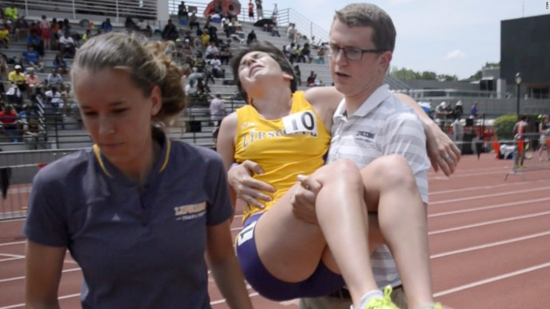 "The college student is a runner unlike any other -- every time she competes in a race, she knows she'll collapse in a sobbing heap at the finish line, with numb legs. <a href=""/2015/05/20/sport/kayla-montgomery-multiple-sclerosis-athletics-feat/index.html"" target=""_blank"">Read more</a>"
