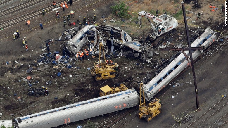 In May: Amtrak train sped up before flying off tracks