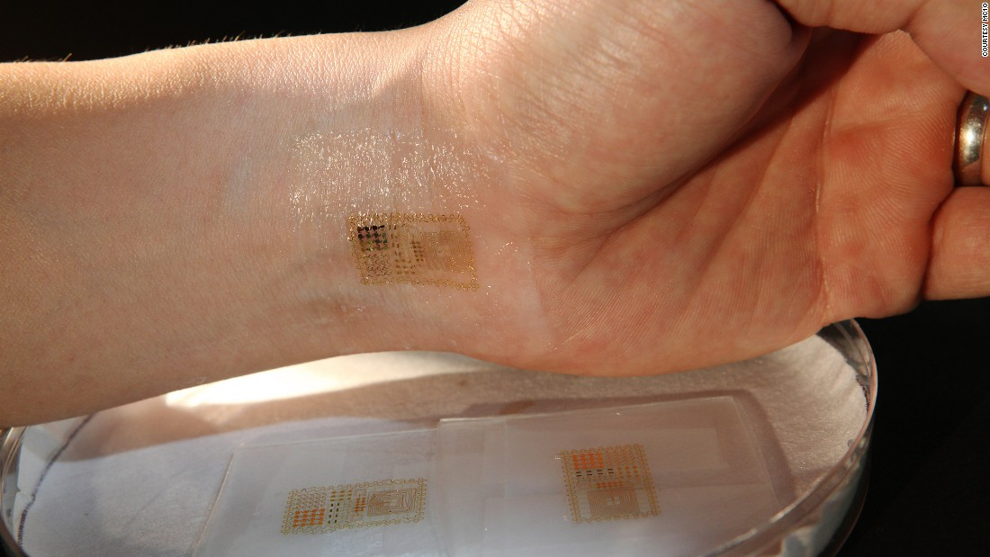 The Biostamp can be powered with energy from the body.