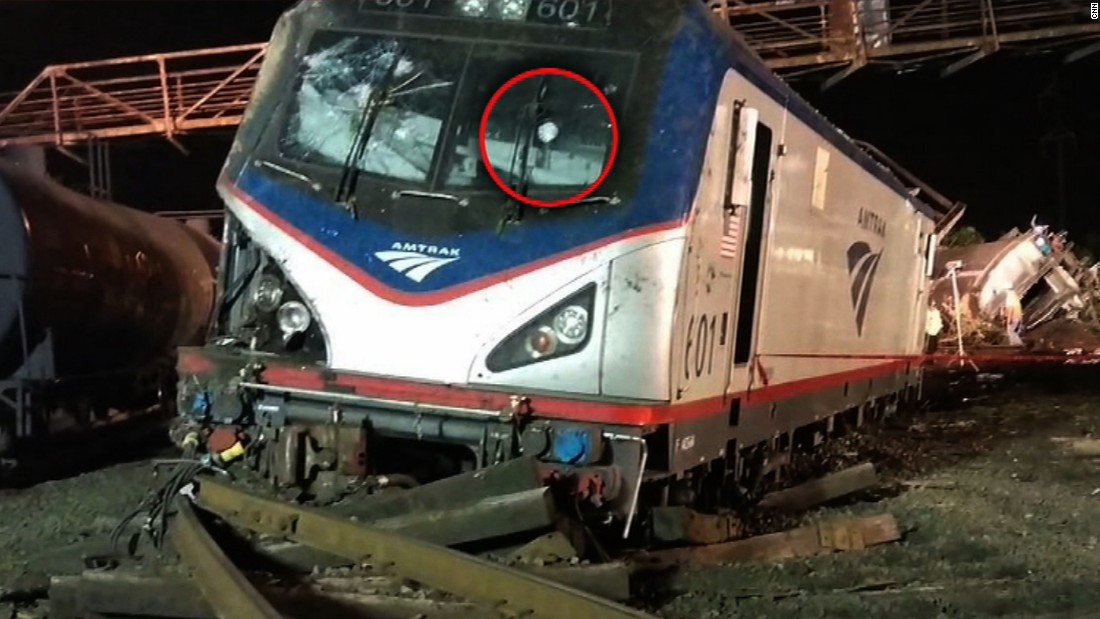 Amtrak train may have been struck by something, conductor tells NTSB
