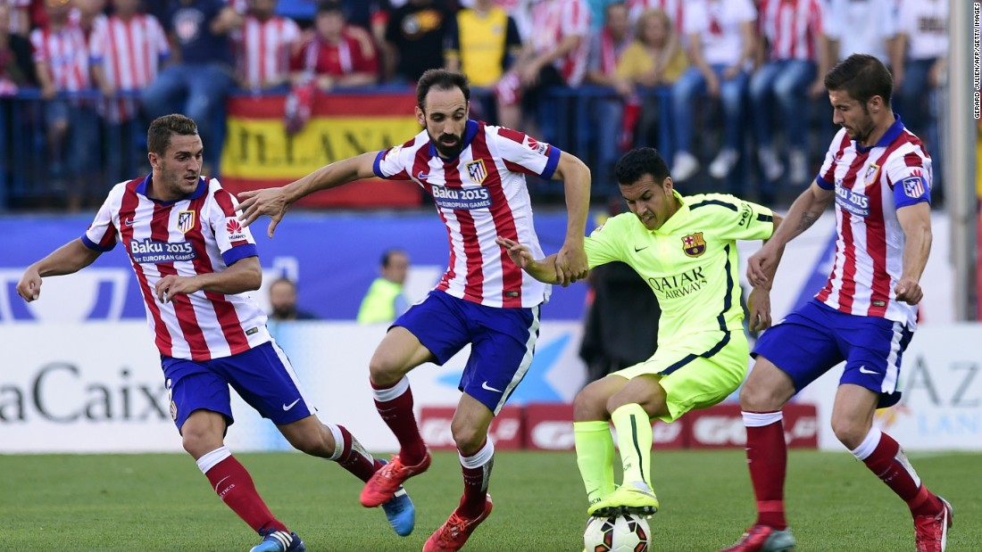 Atletico battled to get back into the game but to no avail.