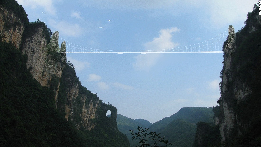 Worlds Highest Glass Bridge To Open In China CNN Travel - China opens worlds longest skywalk