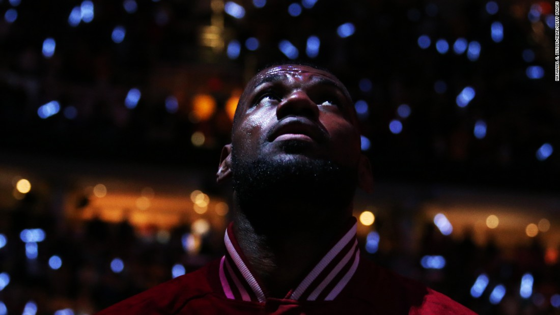 Cleveland's LeBron James prepares to play Chicago in Game 5 of the NBA's Eastern Conference semifinals on Tuesday, May 12. Cleveland won the game and eventually the series.
