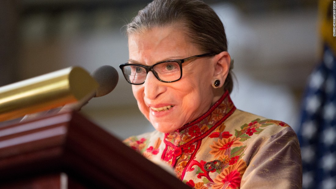 At 82 and visibly stooped, U.S. Supreme Court Justice Ruth Bader Ginsburg remains a strong force with no sign of slowing down.