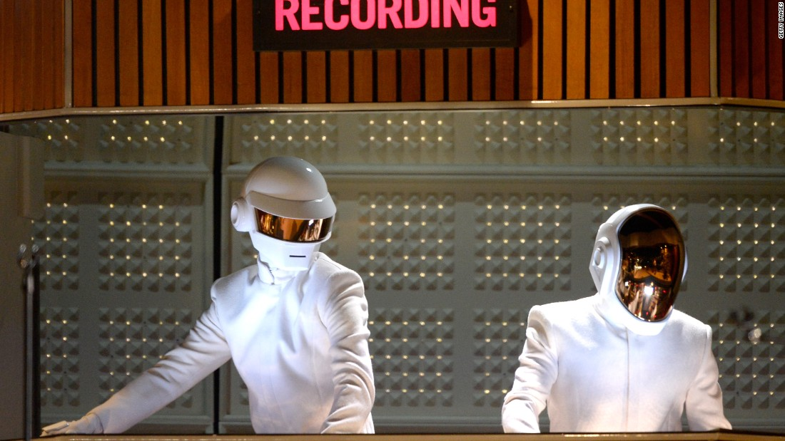 "French electronic duo Daft Punk often add robotic effects to their voices -- unsurprisingly given their personas -- and have used Auto-Tune very prominently in their dance hit <a href=""https://www.youtube.com/watch?v=FGBhQbmPwH8"" target=""_blank""><em>One More Time<em></a></em>.</em>"