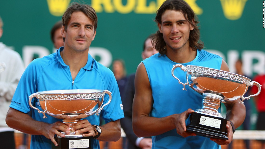 He has also won two doubles titles on clay -- with Tommy Robredo (left) in Monte Carlo in 2008 and with Alex Lopez Moron at Umag in 2003.