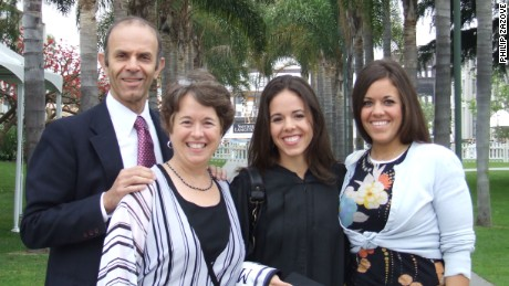 Dr. Philip Zazove with his wife, Dr. Barbara Reed, and daughters Katie and Rebecca.