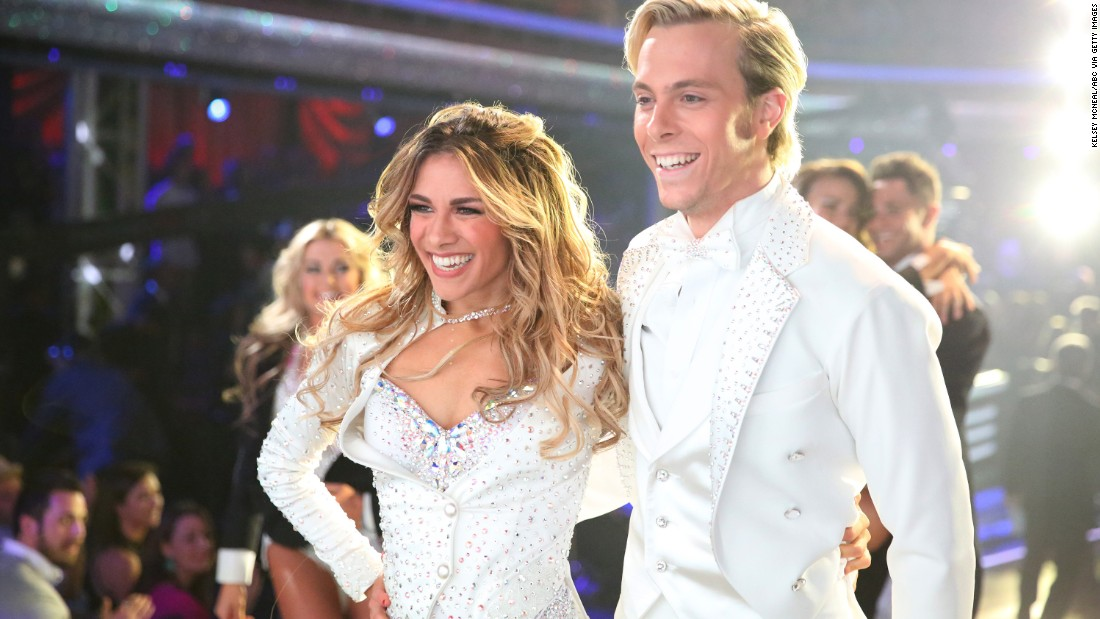 Actor/muscian Riker Lynch and pro dancer Allison Holker, who came in second place, performed an encore of their freestyle dance during the finale.