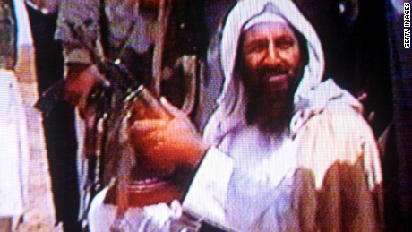 394735 05: (FILE PHOTO) Suspected terrorist Osama bin Laden is seen in this undated photo taken from a television image. (Photo by Getty Images)