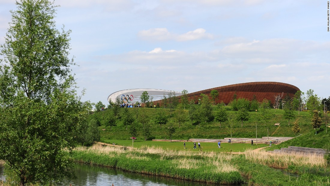 The Olympic Park provides a stunning location on a sunny afternoon in London.
