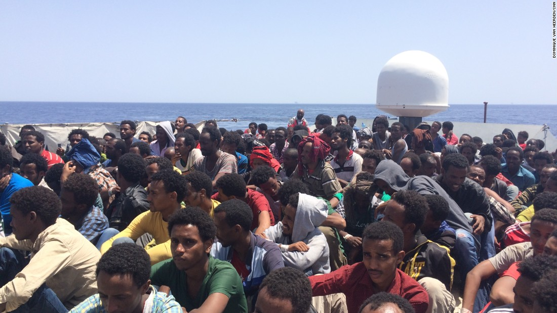 There were some 290 people onboard the rescued boat, including 35 children, Amanpour reported.<br /><br />One man was dead by the time the Navy got to the boat, and three were so ill that they were helicoptered to Lampedusa for urgent care.