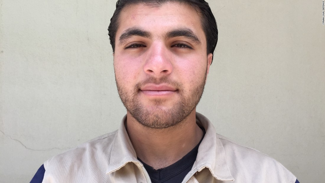 "Abdulkareem Qaddour, 20. Was in high school. ""A barrel bomb dropped near my best friend. He had shrapnel in his head, neck and chest. I took him by ambulance to the hospital, but he died on his way to the operating room."""