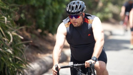 Eugene Smookler initally took it easy on the biking when training with the CNN Fit Nation team.
