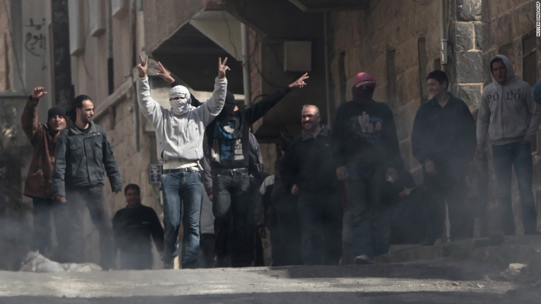 Anti-government protesters demonstrate in Daraa on March 23, 2011. In response to continuing protests, the Syrian government announced several plans to appease citizens.