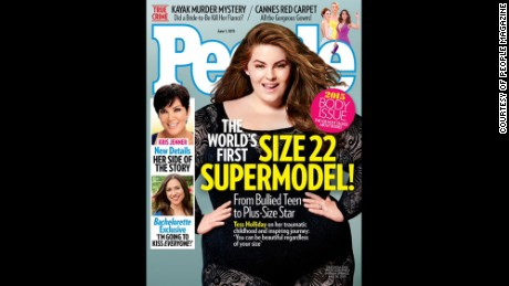Tess Holliday is making history as a plus-size model, even winning the new People magazine cover.
