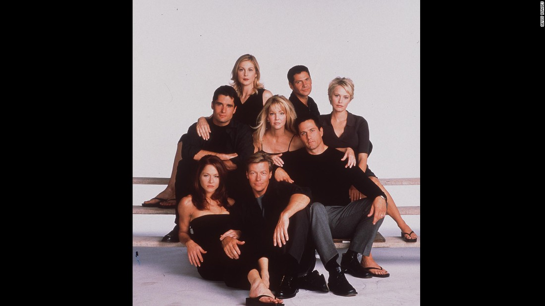 "The cast of ""Melrose Place"" in 1998, Rutherford's second year on the show."