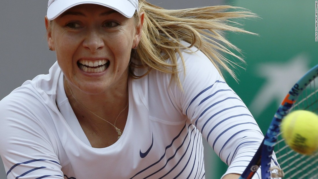 Defending champion Maria Sharapova took to the court Monday against two-time French Open quarterfinalist Kaia Kanepi.