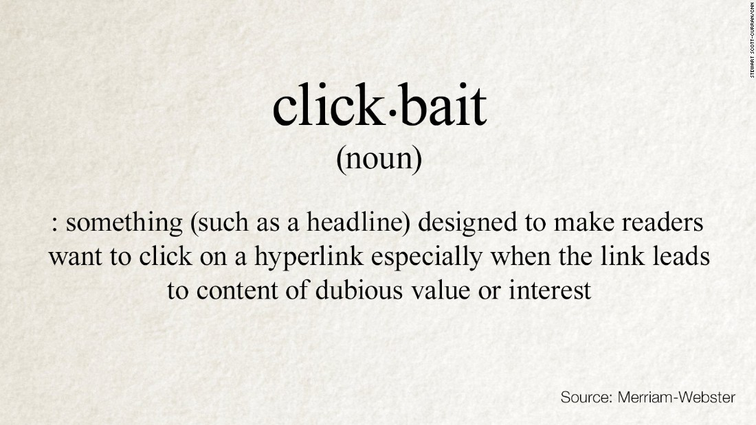 'WTF' in the dictionary?! That's 'clickbait'