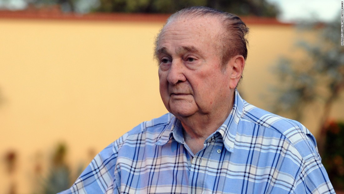 The 86-year-old Paraguayan Nicolas Leoz is a former FIFA executive committee member and CONMEBOL president.