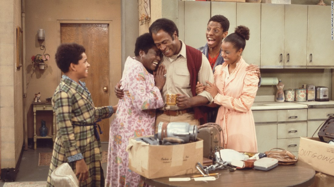 "As ""All in the Family"" led to ""Maude,"" ""Maude"" led to ""Good Times."" Producer Norman Lear built the spinoff around Maude's housekeeper, played by Ester Rolle, second from left. The comedy depicted, with notable realism in its early seasons, the challenges of an African-American family living in difficult economic circumstances."
