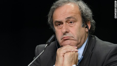 UEFA President Michel Platini attends a press conference prior to the 65th FIFA Congress on May 28, 2015 in Zurich. UEFA will not boycott FIFA's congress and presidential election in Zurich on Friday, Dutch federation president Michael van Praag said following a meeting of the European. governing body. AFP PHOTO / FABRICE COFFRINIFABRICE COFFRINI/AFP/Getty Images