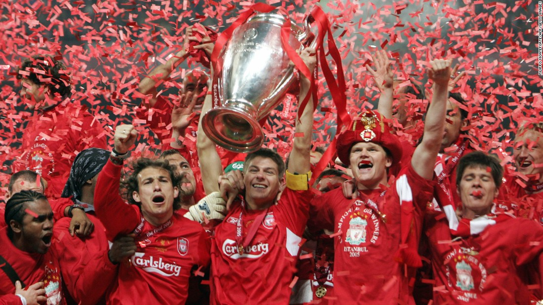 His finest hour in a Liverpool shirt came in 2005 when he led Liverpool to a memorable European Champions League victory, beating AC Milan in a penalty shootout after trailing 3-0 at halftime. Gerrard sparked an incredible comeback, netting the first goal as the Reds leveled at 3-3.