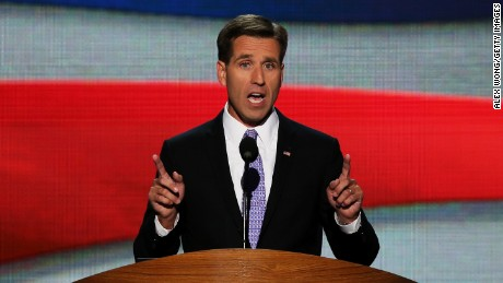 Caption:CHARLOTTE, NC - SEPTEMBER 06: Attorney General of Delaware Beau Biden speaks on stage during the final day of the Democratic National Convention at Time Warner Cable Arena on September 6, 2012 in Charlotte, North Carolina. The DNC, which concludes today, nominated U.S. President Barack Obama as the Democratic presidential candidate. (Photo by Alex Wong/Getty Images)