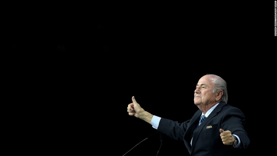 "Sepp Blatter celebrates after being re-elected as FIFA president on Friday, May 29. <a href=""http://www.cnn.com/2015/05/29/football/fifa-congress-corruption-case-blatter-election/index.html"" target=""_blank"">He won a fifth term</a> despite a week marked by arrests, investigations in the United States and Switzerland, and questions about whether he was the right man to rebuild the reputation of soccer's governing body. Four days later, he announced that <a href=""http://www.cnn.com/2015/06/02/football/fifa-sepp-blatter-presidency-successor-election/index.html"" target=""_blank"">he would be stepping down</a> from the post."
