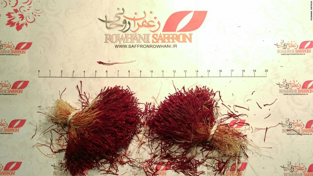 The highest quality saffron is distinguished by a yellow taper at one end. Lower grade or fraudulent spice is often given away by dust in the package.