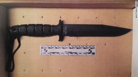 Police released this image of a knife Usaama Rahim allegedly waved at officers before being fatally shot.